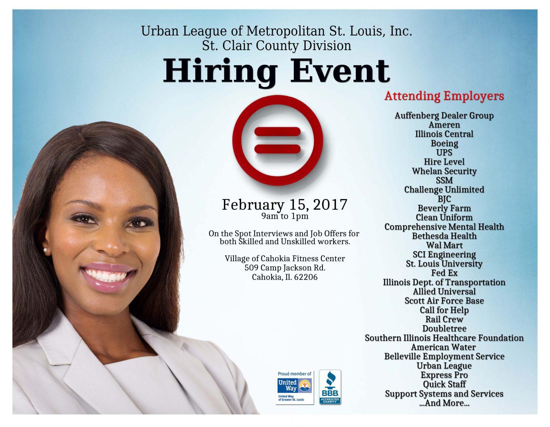 Hiring Event 1-30-2017
